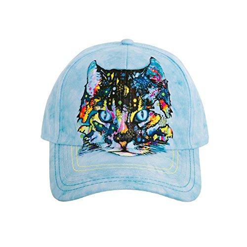 - The Mountain Unisex-Adult's Hypno Cat Baseball Cap, Blue, Adjustable