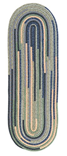 French Country Bedrooms - Quilter's Choice Braided Rug, 2 by 6', French Country