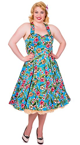 geblümt Neckholder Kleid Blau Apparel Blau Verboten FqwT7Y7