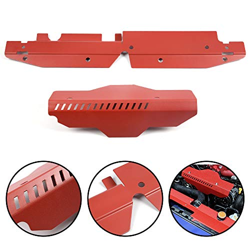 For Subaru WRX & STi 2008 2009 2010 2011 2012 High Performance Radiator Shroud & Pulley Belt Cover Combo Red ()