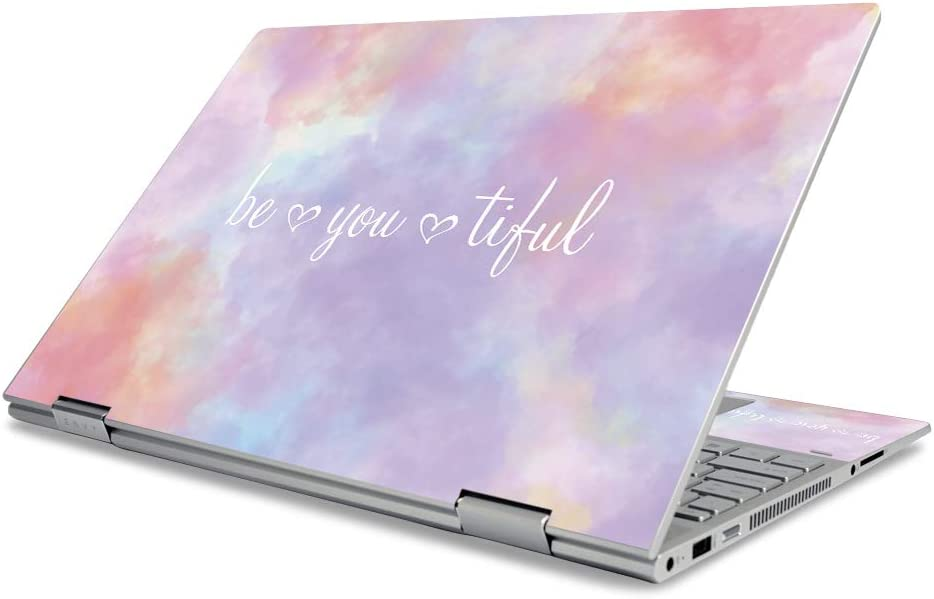 """MightySkins Skin for HP Envy X360 15"""" (2019) - BeYouTiful   Protective, Durable, and Unique Vinyl Decal Wrap Cover   Easy to Apply, Remove, and Change Styles   Made in The USA"""