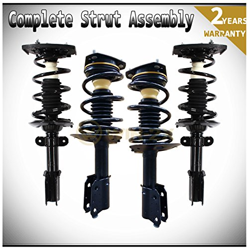 WIN-2X New 4pcs Front+Rear Right+Left Quick Complete Suspension Shock Struts & Coil Springs Assembly Kit Fit 97-05 Buick Century 97-04 Regal & 97-03 Pontiac Grand Prix