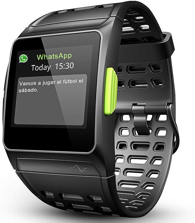LUKAWIT Fitness Tracker GPS con Reloj para Correr con Monitor de ...