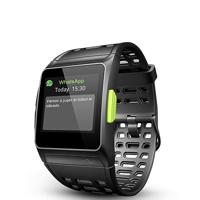 LUKAWIT Fitness Tracker GPS con Reloj para Correr con Monitor de Ritmo cardíaco, análisis HRV, podómetro, sueño, rastreador de Pasos con Modos ...