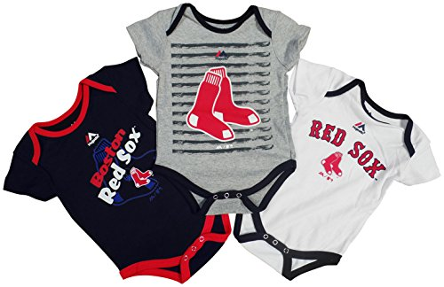 Boston Red Sox Baby / Infant Triple Play II 3 Piece Creeper Set