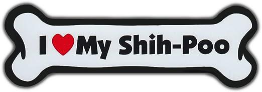 More I Love My Shih-PooFor Cars Refrigerators Dog Bone Magnet