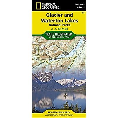 NAT GEO Glacier/Waterton Nat'l Park Map