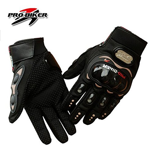 Motorcycle Bike Racing Full Finger Gloves 3 Colors Protective Motocross Gloves Size M /L /Xl/xxl (BLACK, XXL)