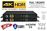 HDbaseT HDR Extender Kit HDMI 2.0B 18GBPS 4K @ 60hz UltraHD YUV 4:4:4 Uncompressed 230FT 70M Transmitter Receiver IR RS232 (CAT5e or CAT6) HDCP2.2 HDTV CRESTRON CONTROL4 SAVANT HOME AUTOMATION 4K2K