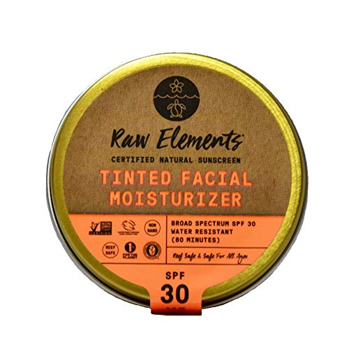 Raw Elements: Tinted Facial Moisturizer Broad Spectrum, Water Resitant SPF 30+, 1.8 ()