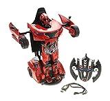 car robot transformer - PowerTRC 1:14 RC Transformer 2.4G Robot Car Red | One Button Transformation | High Speed |