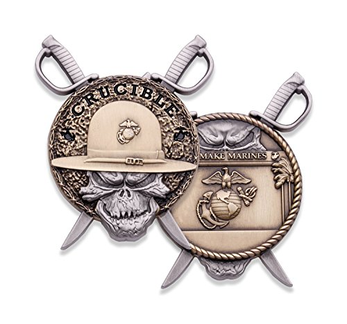 Challenge Coin Corps (Marine Corps Crucible Challenge Coin - USMC Challenge Coin - Officially Licensed Military Coin - Designed for Marines by Marines!)