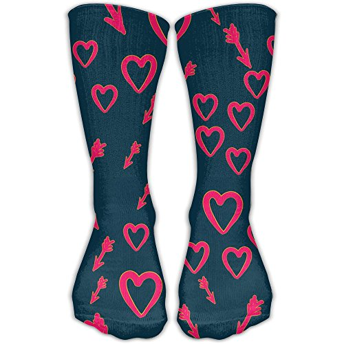TDGEDSFD Heart With Cupid Arrows Fashion Warm Winter Socks Cotton Crew Socks One Size For Women And Men(30cm)