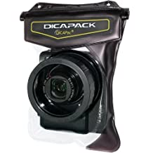 "DiCAPac Mirrorless RF High-end Digital Camera Underwater Sport Outdoor Waterproof Case Bag WP-610 (5.59 x 7.48"") with Strap"