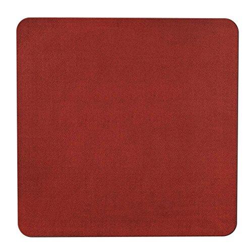 House, Home and More Skid-Resistant Carpet Indoor Area Rug Floor Mat - Brick Red - 3 Feet X 3 - Mat Floor Brick