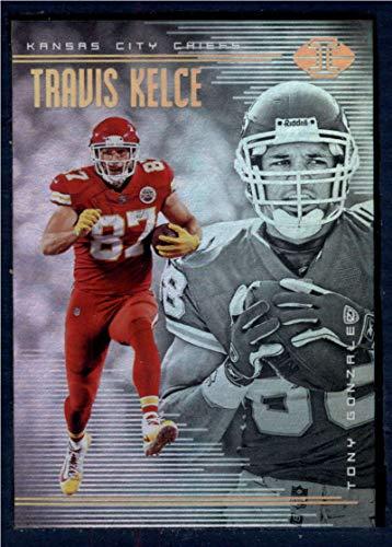 2018 Panini Illusions Football #80 Tony Gonzalez/Travis Kelce Kansas City Chiefs Official NFL Trading (Tony Gonzalez Football)