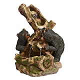 Water Fountain with LED Light – Dilly Dallying Black Bears Garden Decor Fountain – Outdoor Water Feature Review