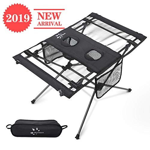 FRUITEAM Potable Camp Table Picnic Folding Beach Table for Camping Hiking