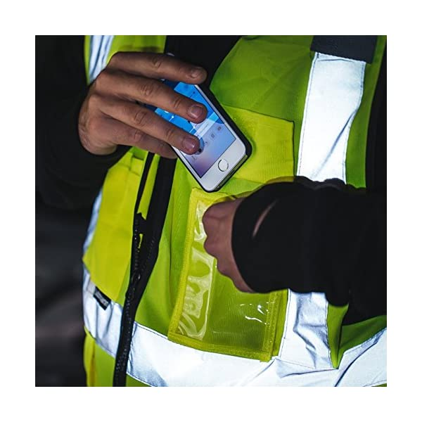 Salzmann 3M Chaleco de Trabajo Multibolsillos   Chaleco reflectante con cremallera   Hecho con cinta reflectante 3M 8
