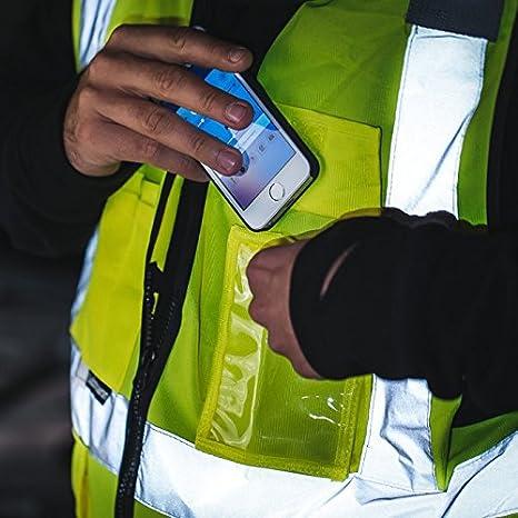 Salzmann 3M Chaleco de Seguridad Multibolsillos, hecho con cinta reflectante 3M: Amazon.es: Industria, empresas y ciencia