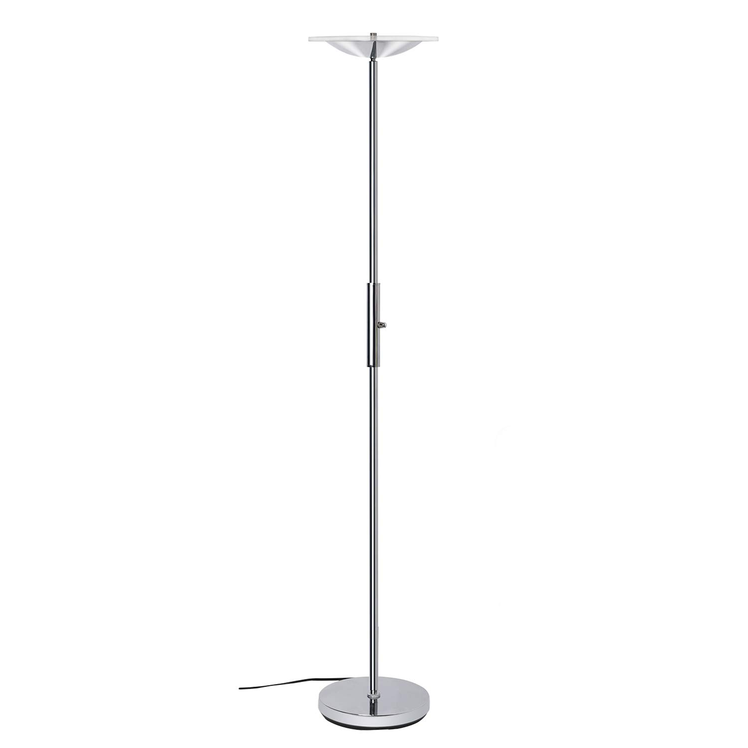 SUNLLIPE LED Remote Controll Torchiere Floor Lamp Acrylic Shade 18W 90° Top Adjustable Dimmable Tall Standing Lamp for Living Room, Bedroom and Office