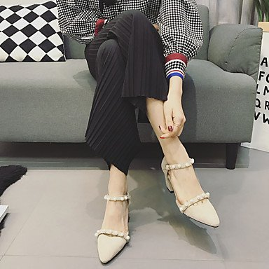 us6 ggx uk4 4in cn37 Women's Black Slingback 2in 5 Heels eu37 2 LvYuan PU 5 5 3 almond Almond Spring Casual Slingback 7 ZMdKyy