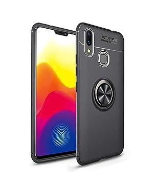 LAGUI Funda Huawei P Smart Plus Super compacta y al Tacto Muy Fina Silicona Carcasa con Anilla Posterior, Soporte de Montaje Magnético del Coche Funda ...