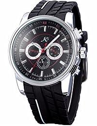 ++Canaloha:)++ KS Day Date 24Hrs Automatic Mechanical Black Dial Mens Sport Military Wrist Watch