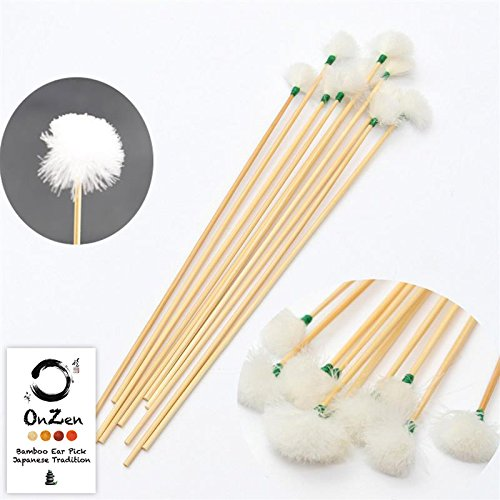 Oriental Japanese Bamboo 3pcs Ear Wax Clean Ear Wax Ear pick Earwax Removal