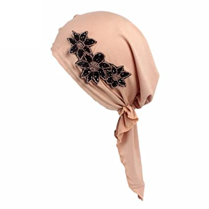 Jaminy 2017 FASHION Women Muslim Ruffle Cancer Chemo Hat Beanie Scarf Turban Head Wrap Cap Scarf Chemo Hat Turban Head Scarves Pre-Tied Headwear Bandana Tichel for Cancer Wine