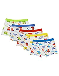CHUNG Little Boys' Soft Modal Boxer Briefs (Pack of 5)