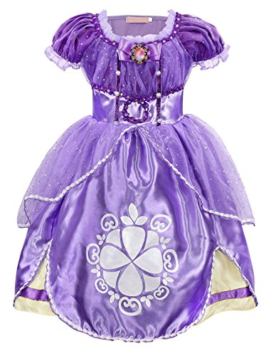 Filare Sofia Dress up Princess Costume Cosplay Halloween Birthday Party Girls Outfit Clothes 3T 2-3 Years -