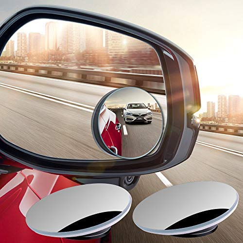 pot Rose Gold Frameless Convex Rear View, 2pcs Adjustable Wide Angle Side Mirrors for Automotive Traffic Safety, 2 Pack ()