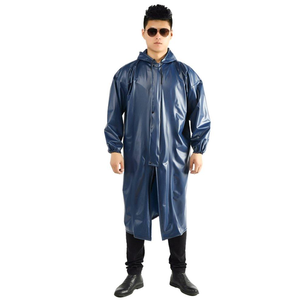 XING-ZI-raincoat C-K-P Erwachsener Regenmantel-im Freien siamesische Männer und Frauen-Langer Trenchcoat-Starke Faltbare Wasserdichte Sonnenschutz-Schutz-Größe (XL, XXL) blau (größe : XXL)