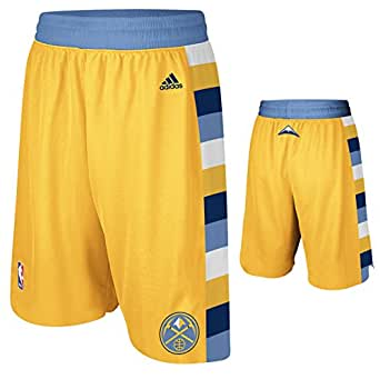 Amazon.com: Denver Nuggets Gold Alternate Swingman Shorts