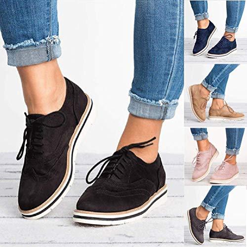 Ankle Blu Stivaletti Autunno Stivali Sportive Scarpe Up Boots Shoes Basse Sneakers Scuro Donna Minetom Lacci Traspirante 7xdqW6RFR