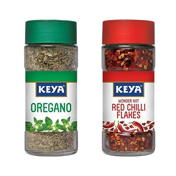 KEYA Oregano -9 g and Red Chilli Flakes -40 g Combo