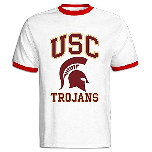 Men's University Of Southern California USC Trojans Baseball T Shirt Red