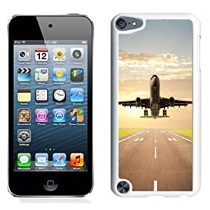 NEW Unique Custom Designed iPod Touch 5 Phone Case With Jet Plane Taking Off_White Phone Case