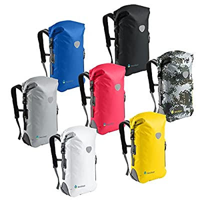 Såk Gear BackSak Waterproof Backpack: 500D PVC, 35L with Welded Seams, Reflective Trim, Padded Back Support, Cushioned Adjustable Straps, Inner Zip Pocket & Splash Proof Outer Zip Pocket