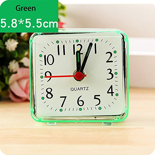❤❃ Little Story Clearance ❤❃, Square Small Bed Compact Travel Quartz Beep Alarm Clock Cute Portable