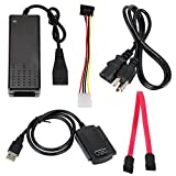 SATA/PATA/IDE Drive to USB 2.0 Adapter Converter Cable for 2.5 / 3.5 Inch Hard Drive / 5 inch Optical Drive with External AC Power Adapter