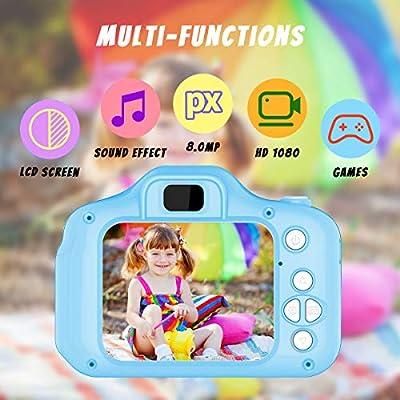 Juguetes para Niños de 3-8 Años Joy-Fun Cámara Fotos Digital 8.0 MP Camara de Fotos para Niños Vídeo Grabar Electrónico Juguete Regalos de Cumpleanos