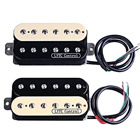 Rocket HZ5 Electric Guitar Humbucker Pickup for Gibson Les Paul Replacement (Neck&Bridge) (Electric Guitar Neck Replacement)