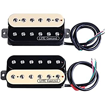 ASCENDAS HZ5 Electric Guitar Humbucker Pickup for Gibson Les Paul Replacement (Neck&Bridge)
