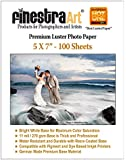 "5"" X 7"" 100 Sheets Premium Luster Photo Paper [Office Product]"