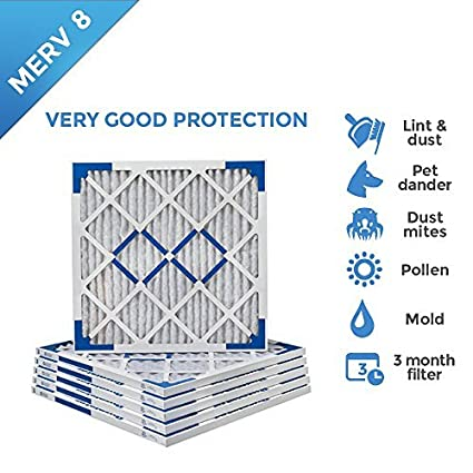 .com: 24x24x1 merv 8 pleated ac furnace air filters. 6 pack ...