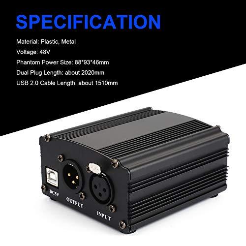 Amazon.com: Pudincoco 48V USB Phantom fuente de alimentación ...