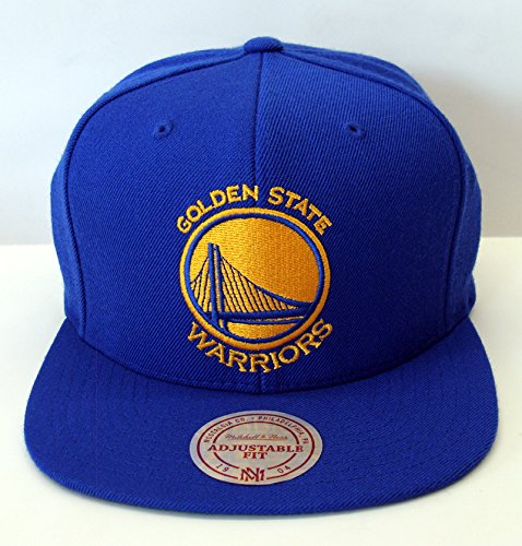 Mitchell & Ness Men's Golden State Warriors Snapback One Size Blue