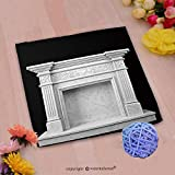 VROSELV Custom Cotton Microfiber Ultra Soft Hand Towel-fireplace made of natural marble on a dark background d render Custom pattern of household products(14''x14'')